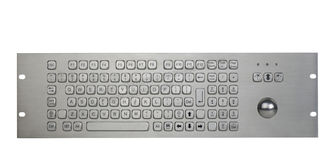 All In One  Industrial Metal Keyboard With Trackball For All Os