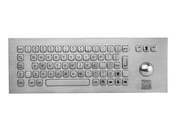 China Dynamic Waterproof Stainless Steel Keyboard With Trackball , Fcc Certified supplier