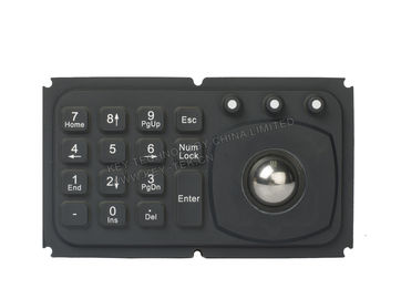 China Mini 15 key panel mount keyboard with trackball for medical , diagnostic equipment supplier