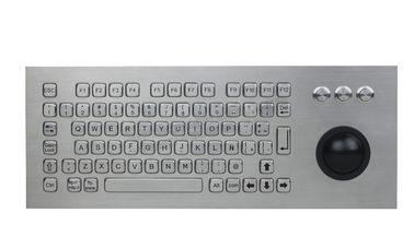 China 82 Keys Waterproof Dynamic Durable Keyboard With 50mm Resin Trackball supplier