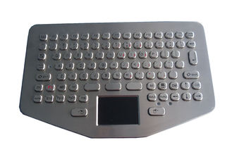 IP65 Vandal Proof Stainless Steel Keyboard Touchpad For Ruggedized Computer