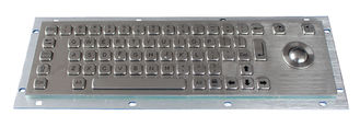 China Stainless Steel Industrial Keyboard With Trackball , 64 Keys Compact Format IP65 Static supplier