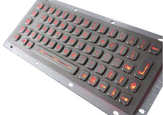 China Stainless Steel Backlit USB Keyboard IP65 Industrial kiosk Keypad supplier