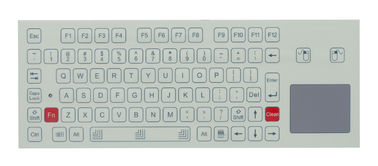 USB cable with 12 FN keys panel mounted keyboard with rugged touchpad