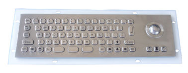 China Water resistant PS2 , USB  Industrial Keyboard With Trackball numberic keypad and Fn keys supplier