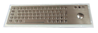 China Vandal Proof SS Industrial Keyboard With Trackball , flat key keyboard with 69 Key supplier