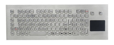 China Washable Stainless Steel mechanical keyboard with touchpad , 103 Keys supplier
