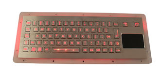 China Compact Format Panel Mount Keyboard Industrial With Dynamic Waterproof Sealed Touchpad supplier