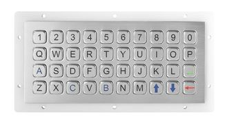 China IP67 40Keys Alphanumeric Stainless Steel Keypad Top Panel Mount Outdoor supplier