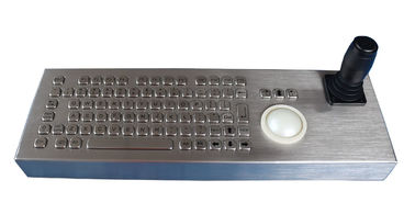 China Flat Desktop Stainless Steel Keyboard Compact Format IP68 Dynamic Vandal Proof supplier