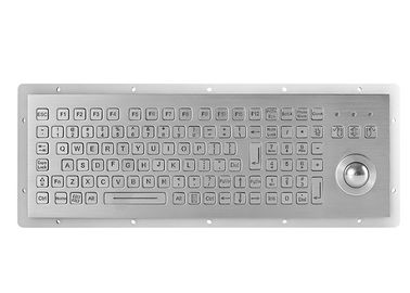 China 104 Keys Stianless Steel Panel Mounted Keyboard IP67 With Trackball 800DPI supplier
