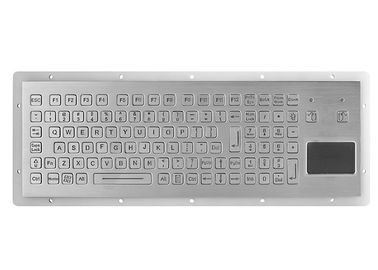 China Panel Mount Metal Mechanical Keyboard Stainless Steel Kiosk With Integrated Touchpad supplier