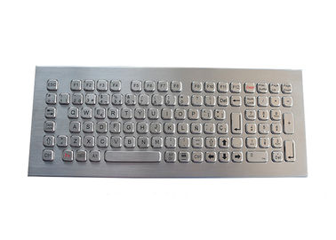 China Desktop Stainless Steel Keyboard 102 Keys IP68 Industrial For Koisk Library supplier