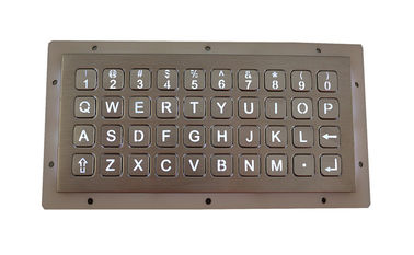 China Alphanumeric 40 Buttons Stainless Steel Backlit Keypad Panel Mount Dot Matrix Interface supplier