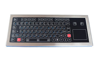 Industrial Ruggedized Membrane Keyboard with Touchpad Steel Plate