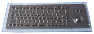 China Industrial Metal Kiosk Compact Keyboard with Ruggedized Trackball supplier