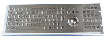 China IP65  Ruggedized Keyboard  with Fn keys and trackball and rear panel mounting supplier