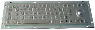 China 0.45mm flat keys stainless steel mechanical keyboard with 800 dpi optical trackball supplier