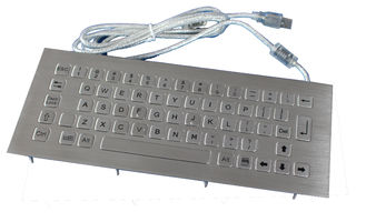 China Dustproof top panel mounting stainless steel keyboard with USB or PS/2 interface supplier