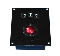 IP65 dynamic Vandal proof Red Phenolic Resin Mechnical Trackball pointing device