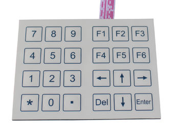 24 keys compact format Dot matrix membrane keypad for  lab , hospital