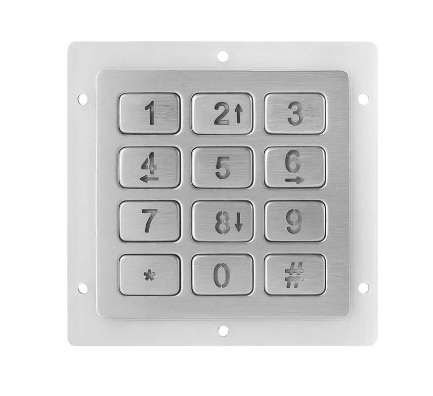 12 Keys Metal Keypad Compact Format Ip67 Dynamic Iso9001 2015