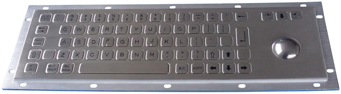 PS2 , USB Compact 69 Keys Kiosk Keyboard with Trackball for Rear