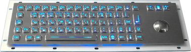 China Industrial Vandal Resistant Usb Backlit Keyboard With Trackball Mouse factory