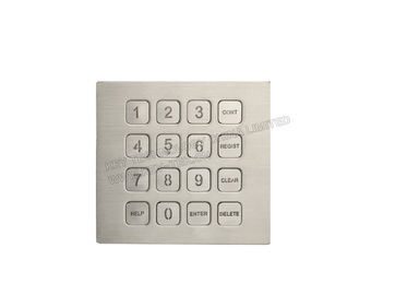 IP67 Rated Backlight Industrial Metal Keypad With 0.45mm Short Stroke