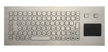 China 85 Keys Washable Ruggedized Keyboard , Stainless Steel Keyboard With Touchpad factory