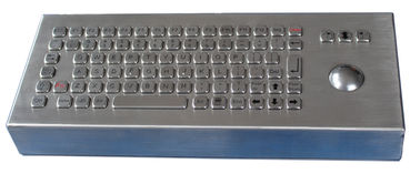 IP66 84 Keys Desktop Silver Industrial Metal Keybaord For Outdoor