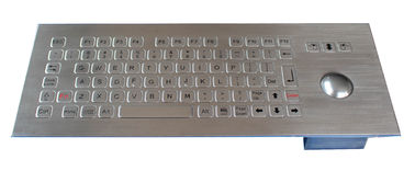 IP65 304 Stainless Steel Keyboard With Trackball , Usb Or Ps / 2 Interface