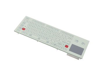 IP65 Industrial Flat Membrane Ruggedized Keyboard With Touchpad