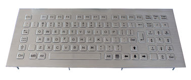 China Front panel mount stainless Steel metal Kiosk Keyboard with 79 key , numeric keys distributor