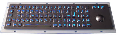 China Explosion Proof Metal Backlit USB Keyboard With Optical Trackball factory