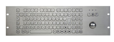 1U Industrial Metal Keyboard With Trackball Numeric FN Keys Waterproof