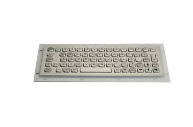 66 keys compact format IP65 static vandal proof stainless steel industrial keyboard