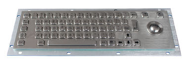 Stainless Steel Industrial Keyboard With Trackball , 64 Keys Compact Format IP65 Static