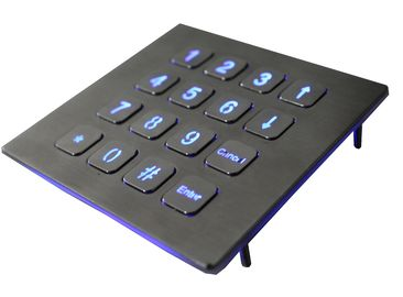 China IP67 Numeric Keypad Top Panel Mount Backlit USB  Red Or Blue 16 Keys factory