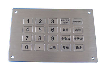 China 20 keys USB waterproof metal numeric keypad top panel mounting solution factory