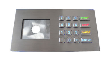 IP67 colourful backlit stainless steel keypad usb numeric keypads with LCD