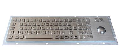 China Industrial Keyboard With Trackball Panel Mount Metal Wired Keyboard factory