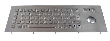 USB Top Panel Mount 69 Keys Industrial dot braille Keyboard With Laser Trackball