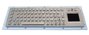 Stainless Steel Kiosk Braille Ip65 Keyboard With Touchpad , Customized Layout