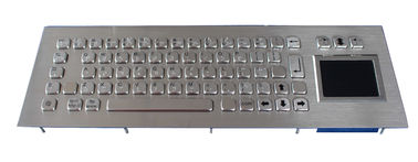 IP65 Stainless Braille Kiosk waterproof keyboard with touchpad , 68 Keys