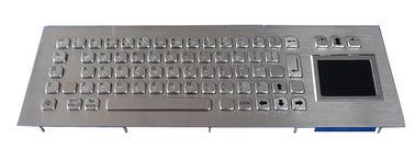 IP65 Stainless Braille Kiosk waterproof keyboard with touchpad , 68 Keys