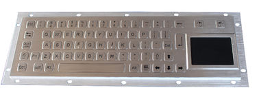 China Brushed IP65 Kiosk Metal Industrial Keyboard With Touchpad  , rear panel mount factory