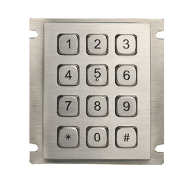China Industrial mini Rear Panel Mouting Steel Metal Numeric Keypad with USB or RS232 Interface factory