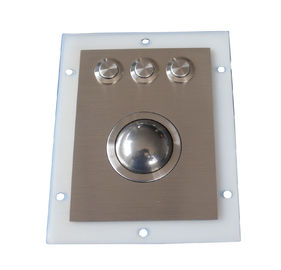 Waterproof Stainless Steel Optical Trackball Pointing Device Ruggedized Stainless Buttons