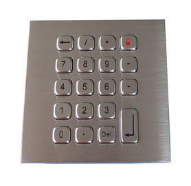 19 Keys Water Proof Metal Keypad Stainless Steel PS2 USB RS232 RS485 available